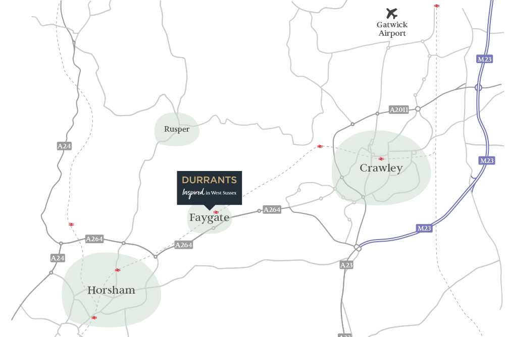 Durrants map