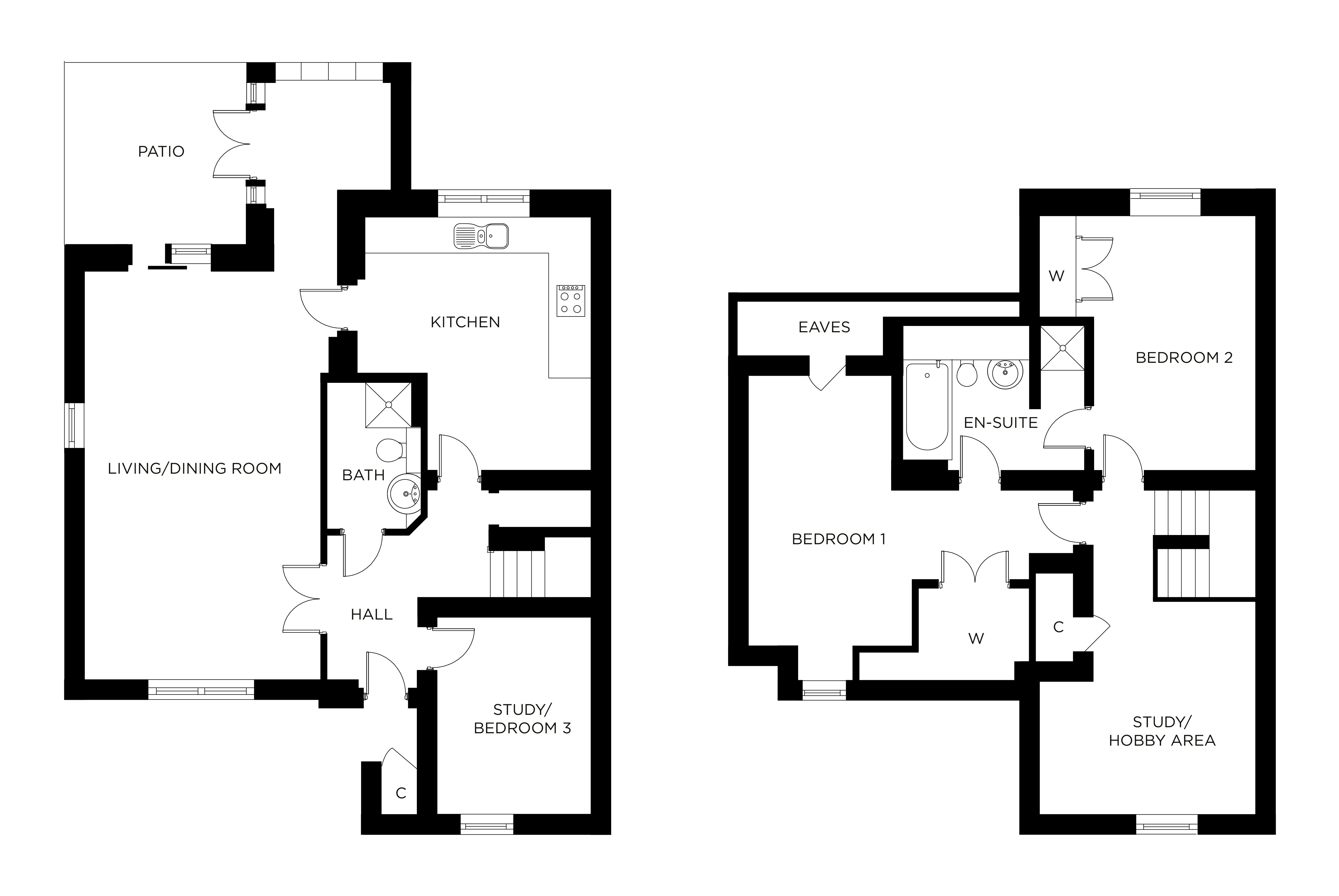 Hooke Court Floor plan